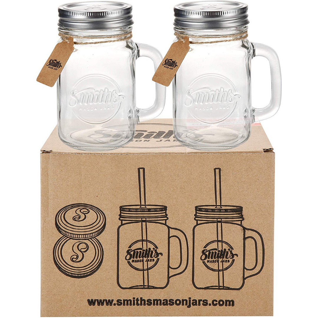 16oz Mason Jar Mugs