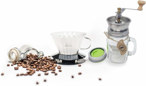 coffee grinder mason jar