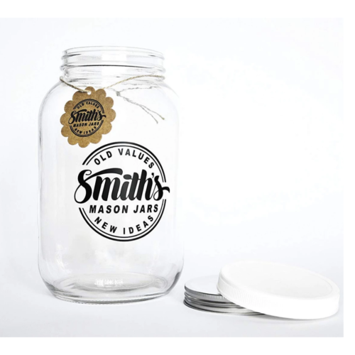 wide-mouth 1 gallon mason jar