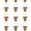 short pudding bowl mini glass jars with cork lids set of 12